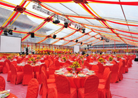 500 People Glass Wall Clear Roof Wedding Party Tent With Glass Doors Aluminum Frame
