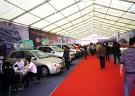 Steel Frame Structure White Marquee Trade Show Tents Multifuctional Sun Proof