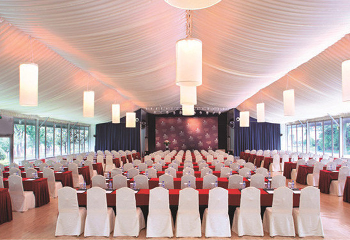 Outdoor Temporary Commercial Conference Party Tents Aluminum Frame Structure