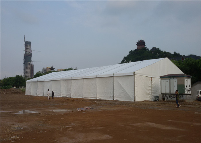 Outdoor Waterproof Large White Marquee Tent Galvanized Steel Structure Material